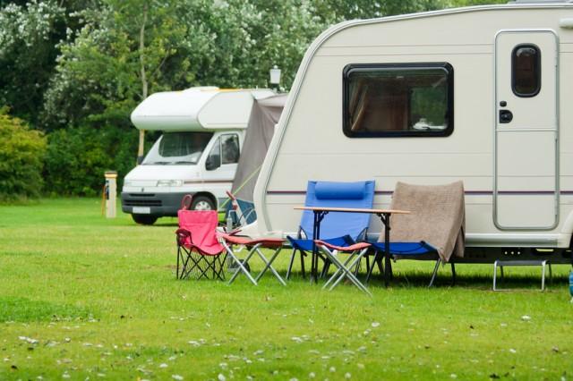 Auf den Campingplatz