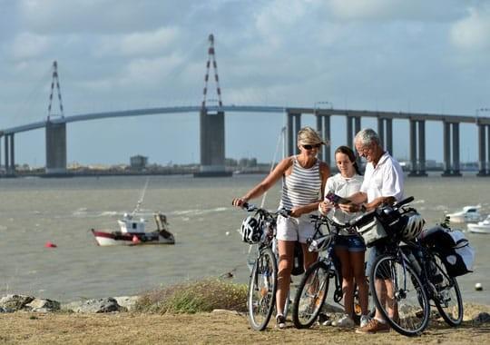 Überquerung der Saint-Nazaire-Brücke