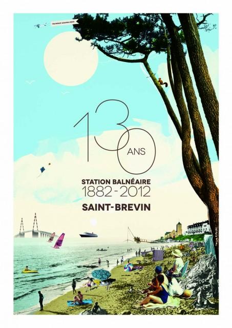 Affiche-130-ans-de-la-station-St-Brevin-1882-2012