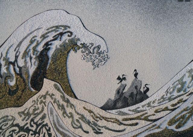 laurence-jovys-tableau-la-vague-aux-cormorans-12629