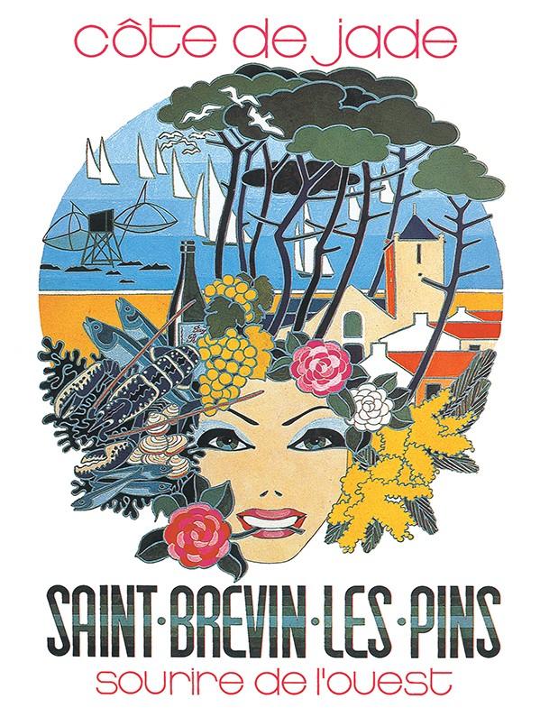 Affiche ancienne-Côte-de-Jade-St-Brevin-Sourire-de- L-Ouest