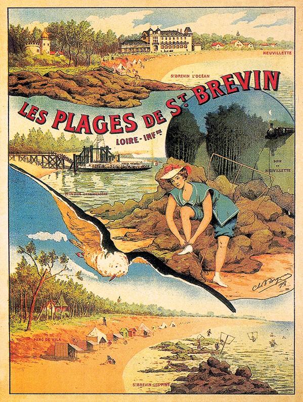 Affiche-ancienne-les-plages-de-St-Brevin-L-Inf-1