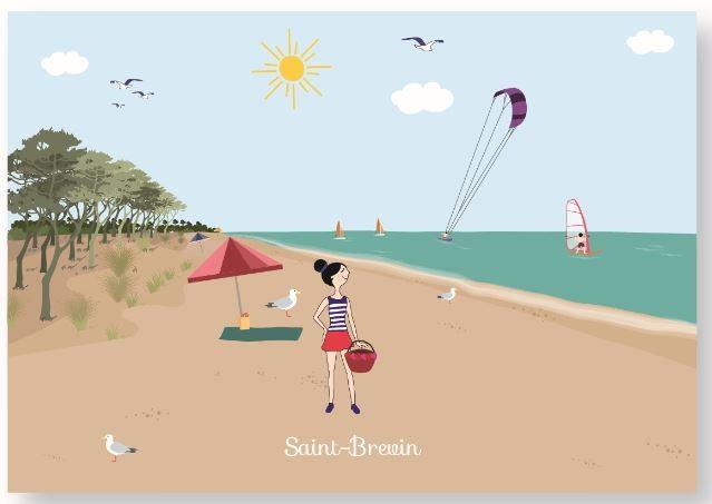 carte-postale-saint-brevin-plage-7516